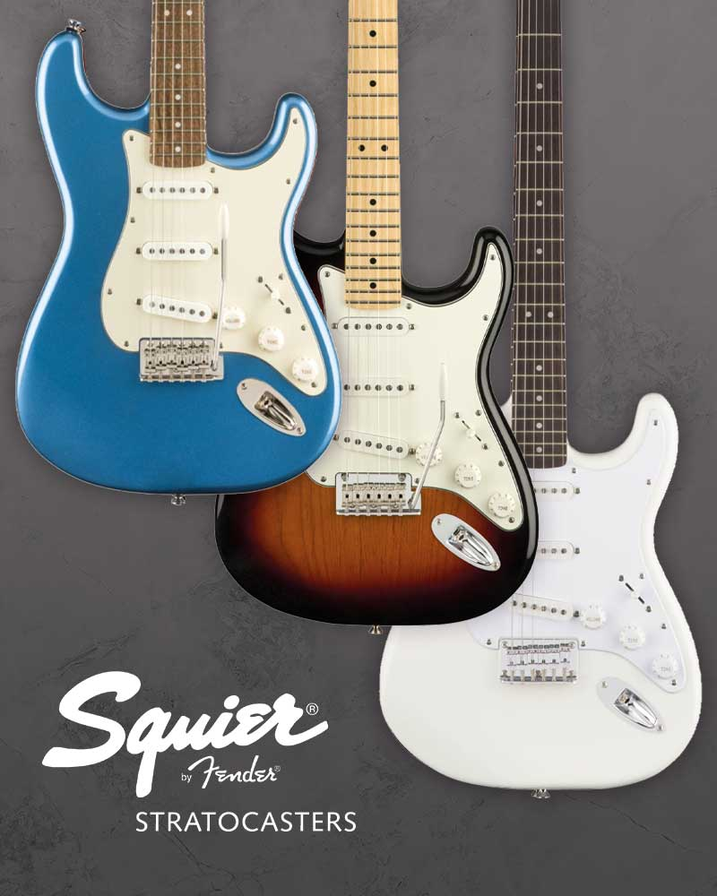 Squire by Fender Stratocasters